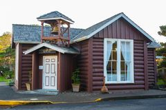 Mały bela kościół morzem, Yachats, Oregon Obrazy Royalty Free
