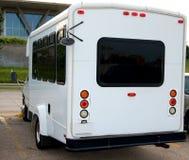 mały biały autobus Obrazy Stock