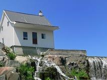 mały biały dom Obraz Royalty Free
