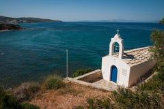 Mały biały kościół, Kythira, Grecja fotografia royalty free