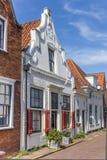 Mały bielu dom w dziejowym mieście Naarden fotografia stock