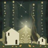 mały Bożego Narodzenia miasteczko ilustracji