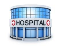 Mały budowa szpital ilustracji