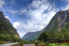 Mały camping i malowniczy krajobraz fotografia royalty free