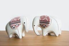 Mały ceramiczny słoń obraz stock
