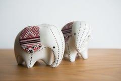 Mały ceramiczny słoń zdjęcie royalty free