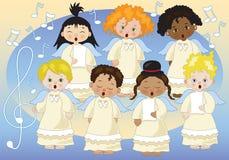 Mały chór aniołowie royalty ilustracja