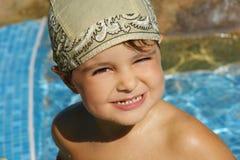 mały chłopiec basen obraz royalty free