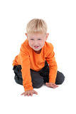 mały chłopiec czołganie Zdjęcia Royalty Free
