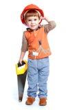 mały chłopiec grać Zdjęcia Royalty Free