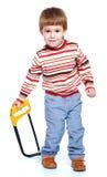 mały chłopiec grać Fotografia Stock