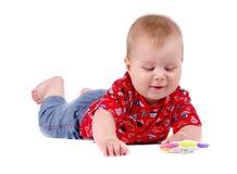 mały chłopiec pojedynczy białe tło Zdjęcie Royalty Free