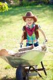 Mały cowgirl zdjęcia stock