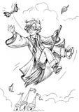 Mały czarownik royalty ilustracja