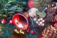 Mały czerwony Bożenarodzeniowy dzwon Fotografia Royalty Free