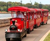 mały czerwony pociąg Fotografia Royalty Free