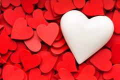 Mały czerwony serca tło Fotografia Stock