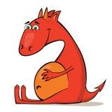 Mały czerwony smok ilustracji