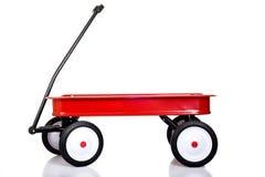 mały czerwony wózek Zdjęcia Royalty Free