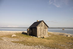 Mały dom na plaży Zdjęcia Stock