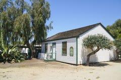 - 21, 2017 mały dom przy San Diego stanu Starym Grodzkim historycznym parkiem SAN DIEGO, KALIFORNIA, KWIECIEŃ - Obraz Stock