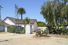 - 21, 2017 mały dom przy San Diego stanu Starym Grodzkim historycznym parkiem SAN DIEGO, KALIFORNIA, KWIECIEŃ - Fotografia Stock