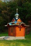 Mały drewniany kościół Obrazy Stock