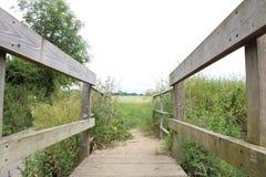 Mały drewno most zdjęcia stock
