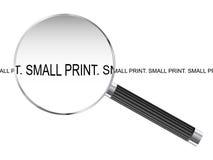 Mały druk Powiększa - szkło ilustracji