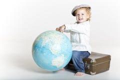 Mały duży podróżnik Zdjęcia Stock