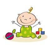 Mały dziecko bawić się na podłoga Obrazy Royalty Free