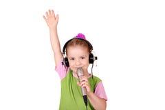 mały dziewczyna śpiew Zdjęcie Stock