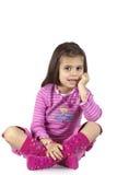 mały dziewczyna cukierki fotografia stock