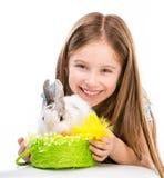 mały dziewczyna królik zdjęcia stock