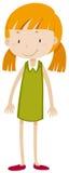 mały dziewczyny pigtail royalty ilustracja