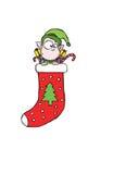 mały elf pończocha Obrazy Royalty Free