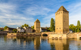 Mały Francja, region turystyczny w Strasburg, Francja Fotografia Royalty Free