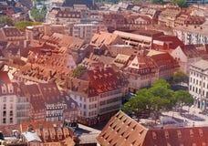 Mały Francja - Strasburski śródmieście z góry, Francja zdjęcia royalty free