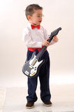 mały gitarzysty spełnianie Zdjęcia Stock