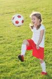Mały gracz piłki nożnej Fotografia Stock