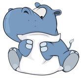 Mały hipopotam kreskówka Zdjęcia Stock