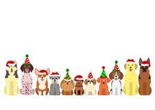 Mały i wielki pies granicy set ilustracja wektor
