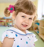 mały ilustracyjny uroczej dziewczyny uśmiechnięty wektora Fotografia Stock