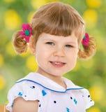 mały ilustracyjny uroczej dziewczyny uśmiechnięty wektora Zdjęcie Royalty Free