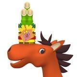Mały Kadomatsu Na Rozochoconej koń twarzy Fotografia Royalty Free