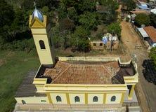 Mały kościół katolickiego wiktoriański, miejski okręg Botucatu obrazy royalty free