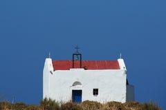 Mały kościół na Greckiej prowinci Zdjęcia Royalty Free