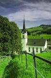 Mały kościół w Gonten w Szwajcaria Zdjęcia Royalty Free