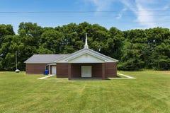 Mały kościół w obszarze wiejskim Mississippi stan obraz stock