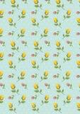 Mały kolor żółty menchii kwiatu druk Zdjęcie Stock